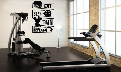 Eat, Sleep, Workout edzős falmatrica